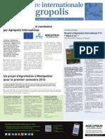Lettre internationale Agropolis numéro 17, novembre 2015