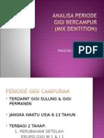 Analisa Gigi Bercampur 2015