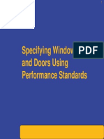 Specifying Windows and Doors Using Performance Standards