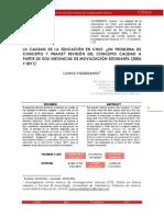 CALIDAD DE LA EDUCACIÓN EN CHILE