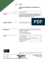 NFT-58-000 Tolerances Applicable to Moulded Plastic