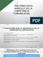 Alteraciones en El Desarrollo de La Competencia Comunicativa