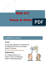 BUS 472 - Leacture 10 - Power Politics - Conflict Negotiation