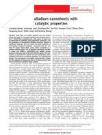 Freestanding Palladium Nanosheets With Plasmonic and Catalytic Properties