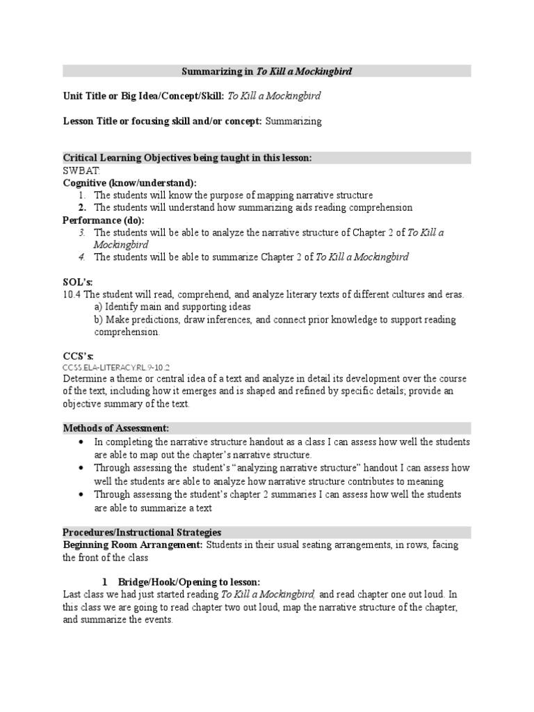 summarization of to kill a mockingbird