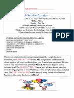 UU Miami 2016 Service Auction Announcement Packet