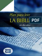 Plan de Lectura Bíblica