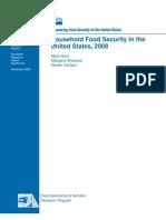 USDA Household Food Security 2008
