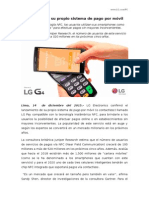 NP LG confirmó su propio sistema de pago por móvil