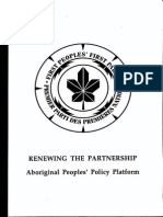 Aboriginal Liberal Commission 1992 Policy & 1993 Platform