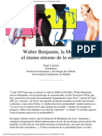 Jorge Lozano- Walter Benjamin, la Moda