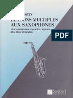 Les Sons Multiples Aux Saxophones