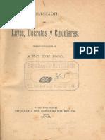 Coleccion de Leyes y Decretos Año 1900