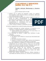 Principales Aspectos de La Gaceta Oficial Del Distrito Federal 2015 Para Viaje de Nuestros Técnicos
