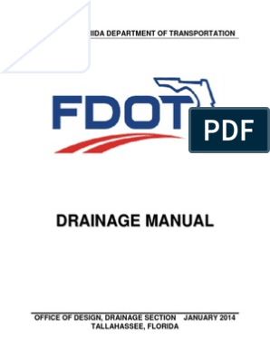 FDOT Drainage Manual | Storm Drain | Drainage