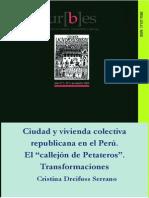 Ciudad y Vivienda Colectiva en La Epoca Republicana