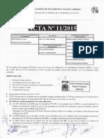 Acta 11/2015 Comité de Seguridad y Salud Laboral Tragsa UT 2 CV