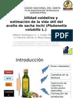 Estabilidad oxidativa y estimación de la vida útil del aceite de sacha inchi (Plukenetia volubilis L.)