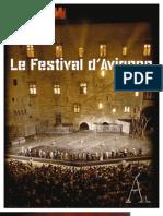 Plaquette de présentation du Festival d'Avignon