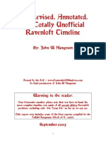 Ravenloft - Timeline