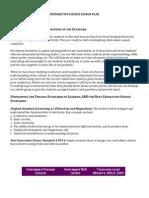 integrative science lesson plan
