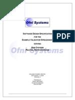 FastVal Design Specification Template