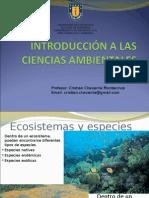 CLASE 5.Especies. Ecosistemas