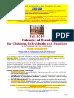 Calendar of Events - December 13, 2015