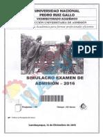 Simulacro Examen Admision 2016 por Competencias - UNPRG