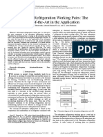 Adsorption Refrigeration Working Pairs the State of the Art in the Application