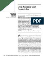 Cortical Mechanisms of Speech Perception in Noise
