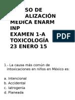 Examen 1-A Toxicologia ENARM