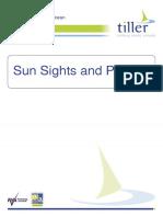 Sun Sights and Plotting