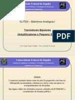 Analogica I (9) BJT Amplificadores 1 2013
