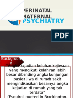 Perinatal and Maternal Psychiatry