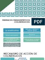 Fármacos parasimpáticos (colinérgicos)