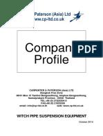 Carpenter & Paterson(ASIA) LTD Profile