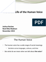 The Social Life Of The Human Voice
