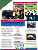 marian university model un newsletter 2014-2015