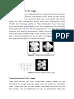 Pembentukan Struktur Kristal Tunggal