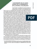 Lucio o La Conversión de Un Asno- Sobre El Mundo de La Experiencia Religiosa en La Novela de Apuleyo