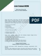 Metode Evaluasi RPJMD