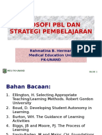 Filosofi PBL Dan Strategi Pembelajaran