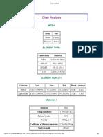 chair analysis report