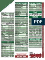 Tabela Verde 2014