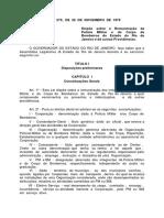 Lei Estadual Nr 0279 - 26-11-1979 - Lei de Remuneracao