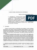 Diogo de Figueiredo Moreira Neto- O novo papel do Estado na economia