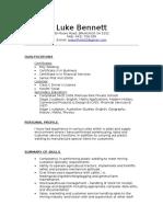 l Bennett 2 Resume