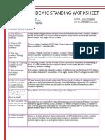 academic standing worksheet