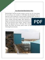 Trimex Beach Sand Beneficiation Plant